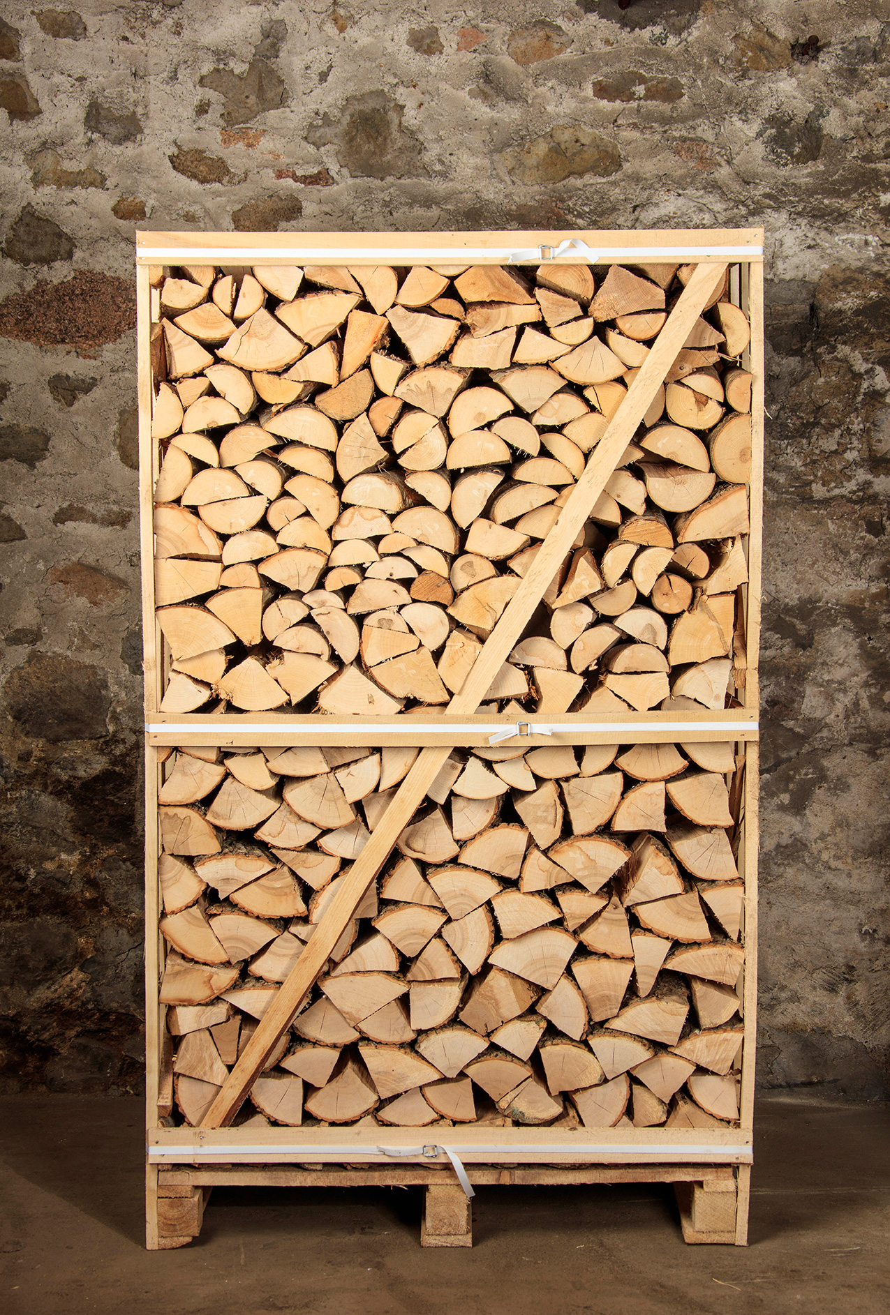 Kiln-Dried Ash Logs - Extra Large 2 metre high crate