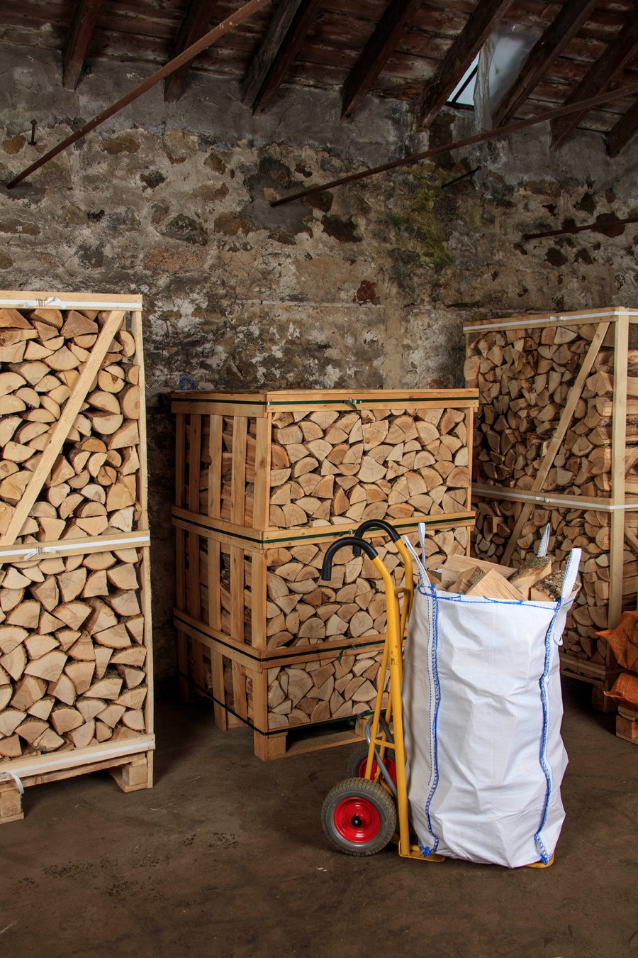 Kiln-Dried Ash Logs - Narrow-Access Bag